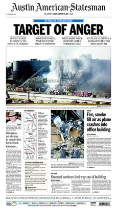 American-Statesman page on deadline