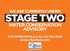 Conservation signage for City of Kyle